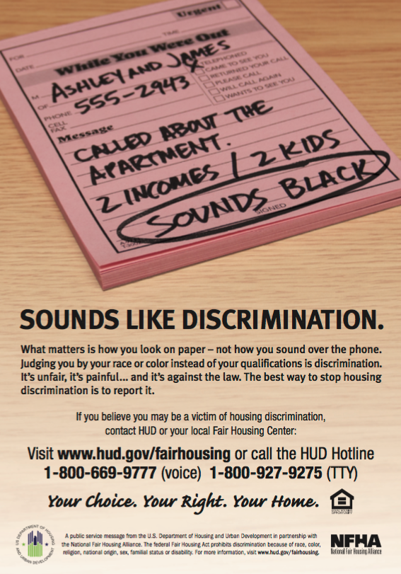 """2b1a5513f NFHM: """"Saying someone 'sounds black'.. sounds like discrimination""""    Navigate Housing Consulting"""