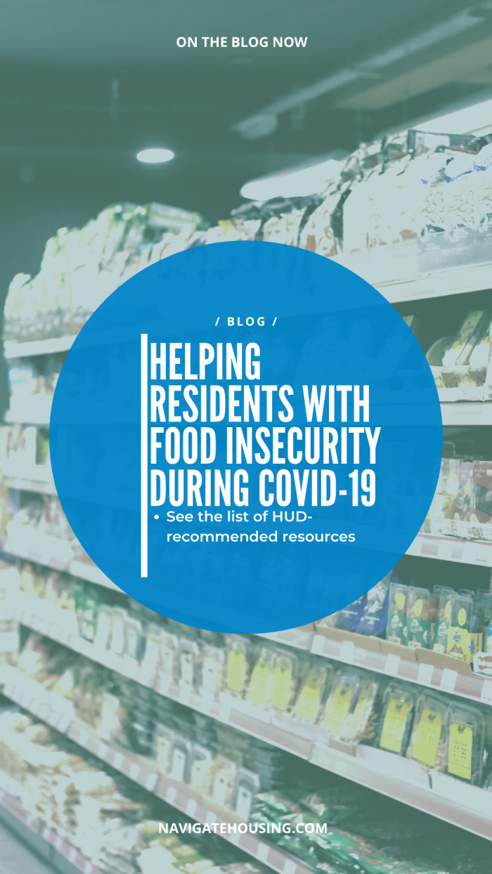 how to help residents with food insecurity