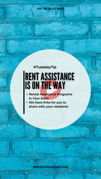 Tuesday tip, rent assistance is on the way