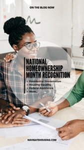 National Homeownership Month Recognition